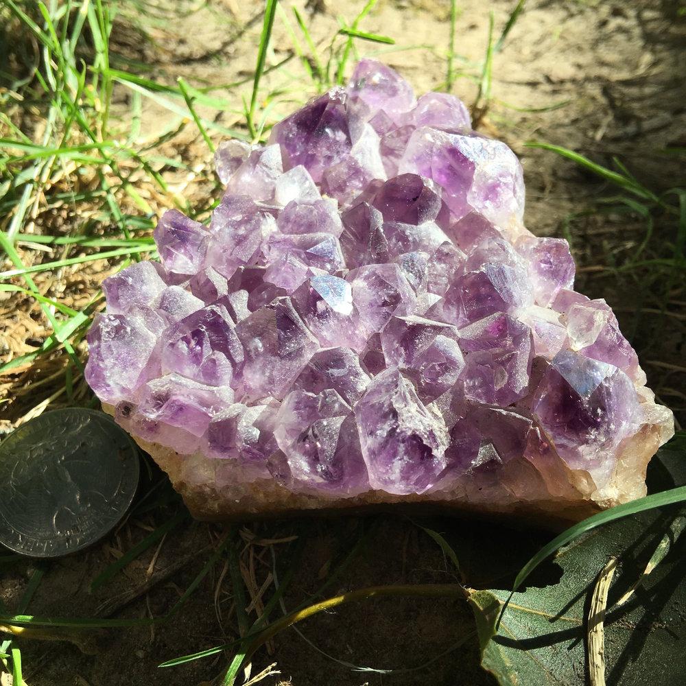 amethyst cluster / krista-mitchell.com