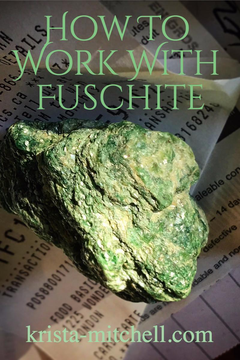 Fuschite is a stone of great green vitality, freshness, and vigor that's great for busy people leading busy lives, overwhelm, and for people practicing presence