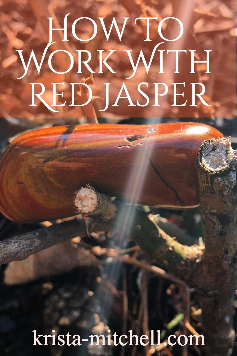 Red jasper is a stone of the brave, of power, courage, strength, grounding, and personal majesty, that can help support you through challenging times and long work hours