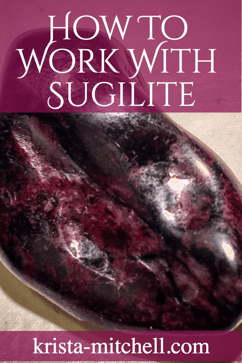 Sugilite is a powerful stone of transformation, healing, emotional and spiritual growth that helps to raise your frequency, activate and strengthen psychic ability, and heal the heart.