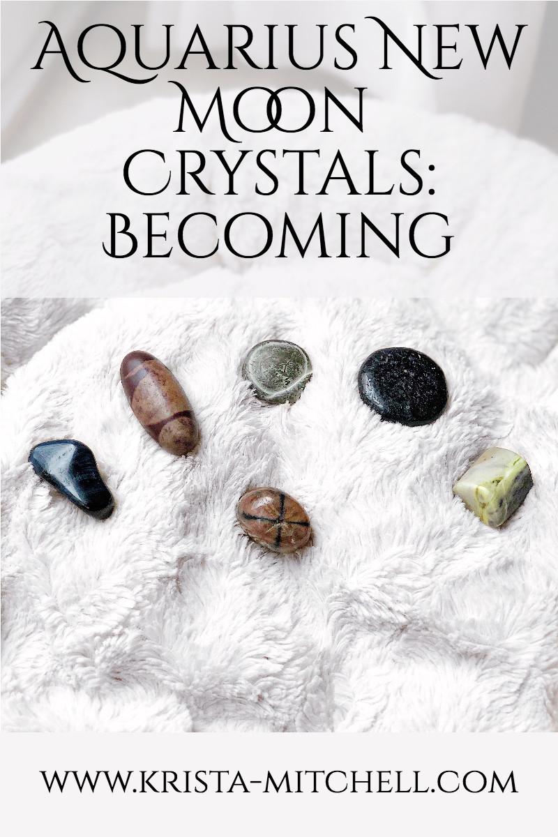 Aquarius New Moon Crystals / krista-mitchell.com