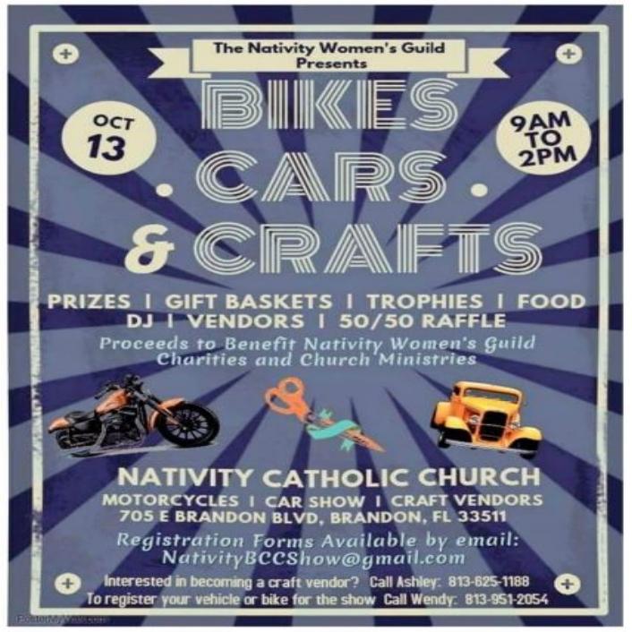 Nativity Catholic Church Classic Car Motorcycle Show Wwwpappy - Car show brandon fl
