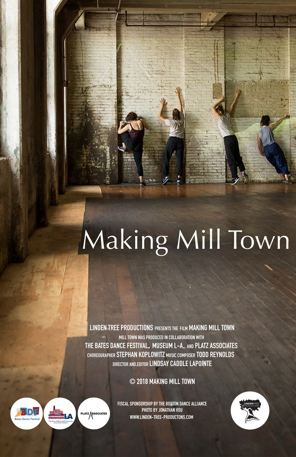 The Making Mill Town video documents the creation of Mill Town, an immersive multimedia performance installation that animates the history and culture of mill life the 19th century.  Through a loose imagistic narrative referencing past, present and future, Mill Town conjures new possibilities for vacant mill buildings that once provided the Lewiston-Auburn communities their backbone and character.  Making Mill Town will serve as a lasting document of this powerful and ephemeral performance that re-animated the work and life of one mill community and inspired audiences with a highly imaginative, site-specific expression of the iconic spaces. -