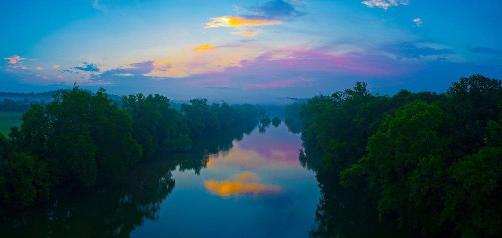 Shanandoah River in Front Royal at dawn.