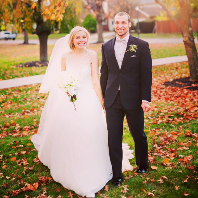 "Josh and Catherine Kilmer ""We were married on November 7, 2015 :)  When Josh and I were engaged, I lived on a farm with an amazing Catholic family of 13, half an hour from where Josh was finishing his senior year of college. I had moved to middle-of-nowhere PA to be near my darling with no job, little savings, and a lot of love! I ended up getting a job as a kindergarten aide, but before my first paycheck came in, I ran out of savings. I am the girl who grew up in the suburbs, took taxis across New York City, and generally didn't watch my spending on clothes or Starbucks; so to run out of money was humbling, embarrassing, and hilarious, all at the same time.  The day my bank account hit zero was the same day as the 11th birthday of one of the sweet girls I lived with. Margaret came in my room bright and early to share with me that: ""I got 22 dollars for my birthday!"" As soon as she scurried off to exclaim her newfound wealth to the next family member, I called Josh in tears: ""Margaret is 11 and she has more money than me!"" As I half laughed and half cried, Josh reassured me that everything would be okay and that he'd take care of me until I got paid. Now we are happily married and financially just fine, living in our first little apartment in San Diego. I learned that money can't buy love, but running out of it sure can bring you closer to your husband-to-be :) We dearly love our marriage and consider it the greatest gift God has given us to draw nearer to Him and bring us joy. We want to be part of this campaign to stand up for the great good that marriage is and to encourage other couples to do the same.""  #tellusyourstory  #thehitchfix   #togetherforever  #millennialsformarriage   #funny   #lovestory  #catholic   #love  @catherinmadison @blarney8107"