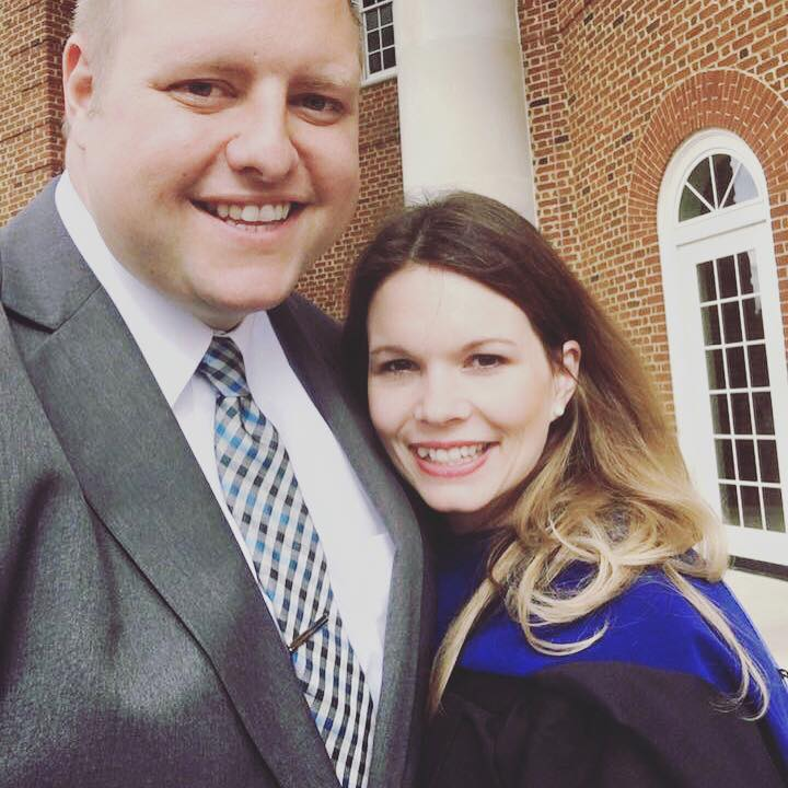 """We got married young. I was 21 and he was 23. We were just babies. I remember people telling me that if I got married, I would never be able to follow my dreams. Well, they were wrong!! 12 years of marriage and four babies later, I stand here with my doctorate. To be honest, I don't think I could've went as far in my education without the encouragement and support of this amazing guy by my side."""