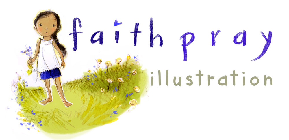faith pray illustration