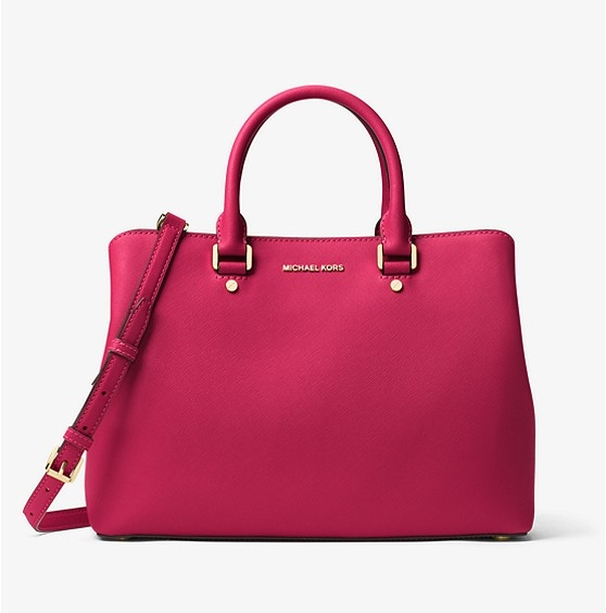 MICHAEL KORS Savannah - MICHAEL KORS Savannah Large Saffiano Leather Satchel. 5 colors availalble. Currently 2 colors are on sale for $134.10