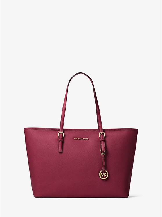 MICHAEL KORS Jet Set - MICHAEL KORS Jet Set Travel Medium Saffiano Leather Top-Zip Tote is availabile in 7 colors. 2 Colors are currently on sale for $122.93