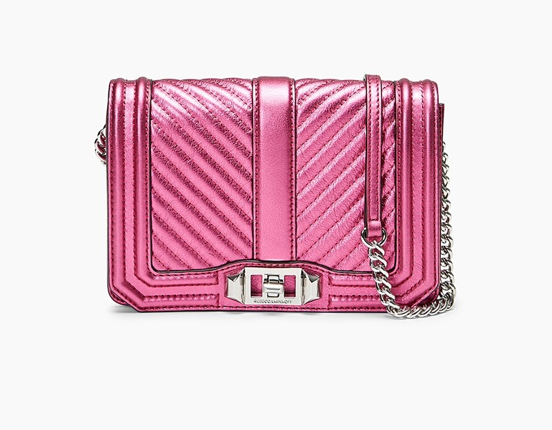 Rebecca Minkoff Chevron Quilted Small Love Crossbody - The Rebecca Minkoff Chevron Quilted Small Love Crossbody is normally $195.00 on sale right now for $98.00