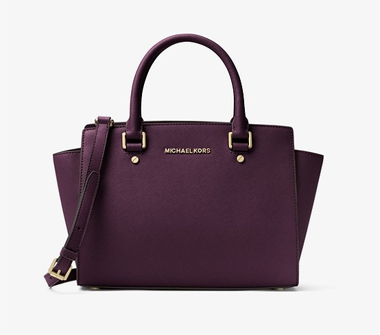 MICHAEL KORS Selma  - MICHAEL MICHAEL KORS Selma Saffiano Leather Medium Satchel is avaialalbe in 7 diffrent colors. 3 colors currently on sale for $134.00