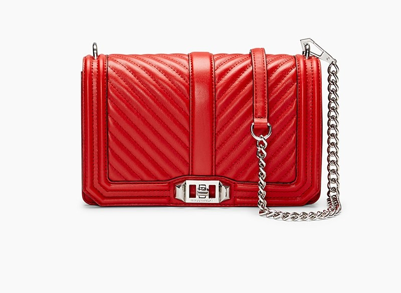 Rebecca Minkoff Chevron Quilted Love Crossbody - Rebecca Minkoff Chevron Quilted Love Crossbody is regualy $295.00 but is on sale right now for $198.00