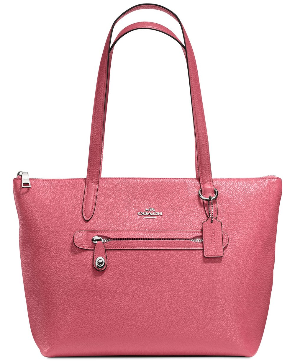 COACH Taylor Tote in Pebble Leather - This COACH Taylor Tote in Pebble Leather is available in 8 diffrent colors 4 of which are on sale now. Normally $275.00 now on sale for $165.00