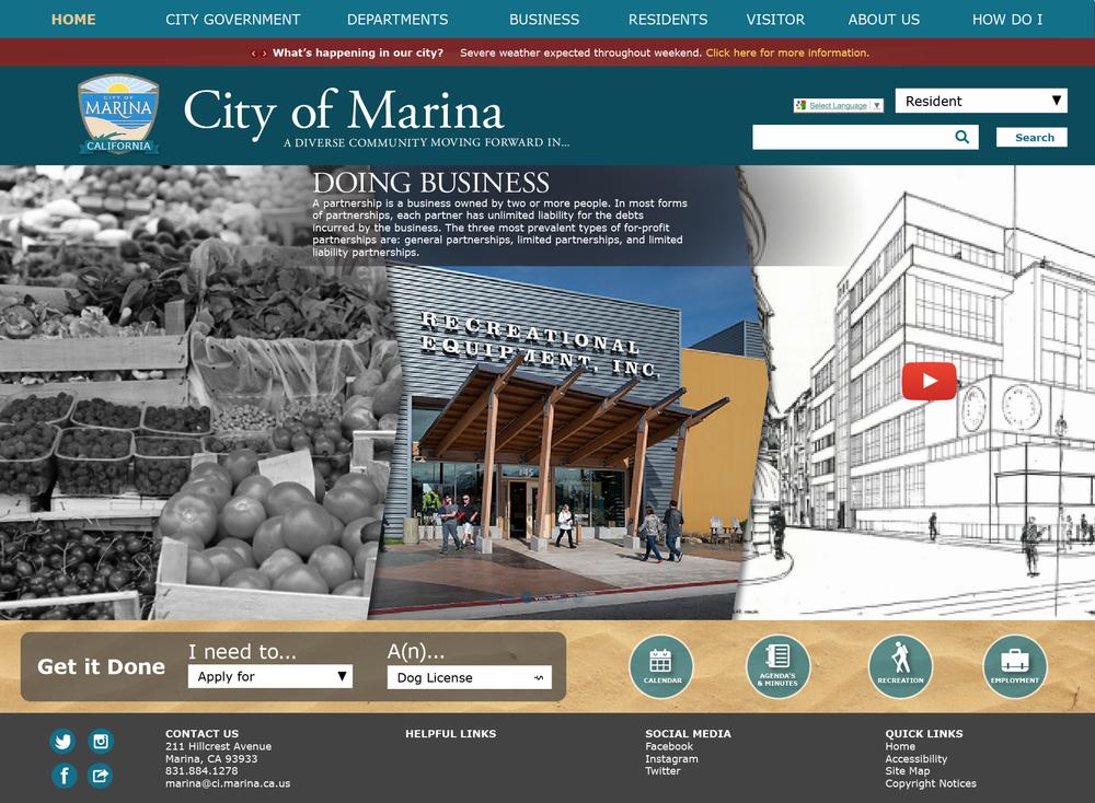 City of Marina Website Redesign -