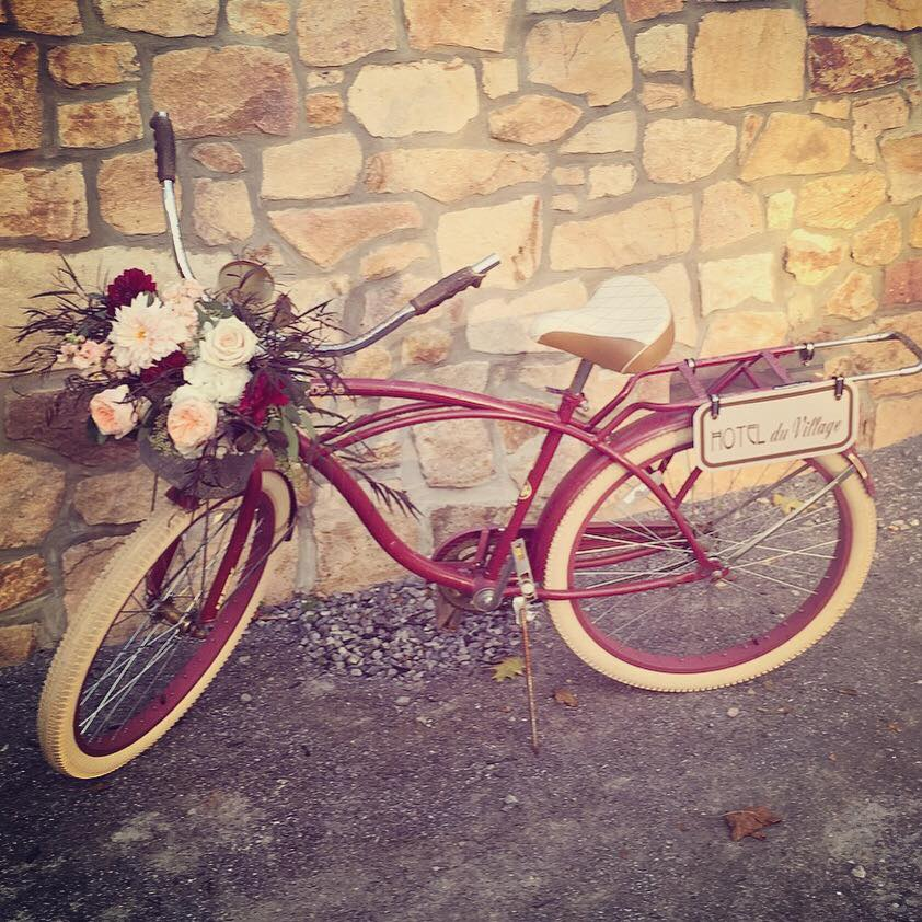 Photo of Bike and Grounds of Hotel Du Village in New Hope, PA