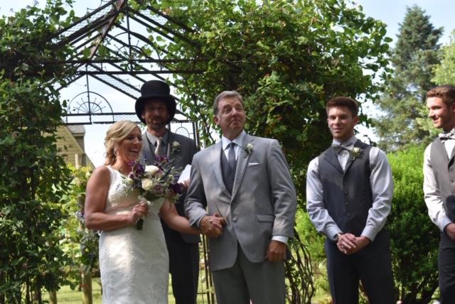 Michelle & Bill on their wedding day.