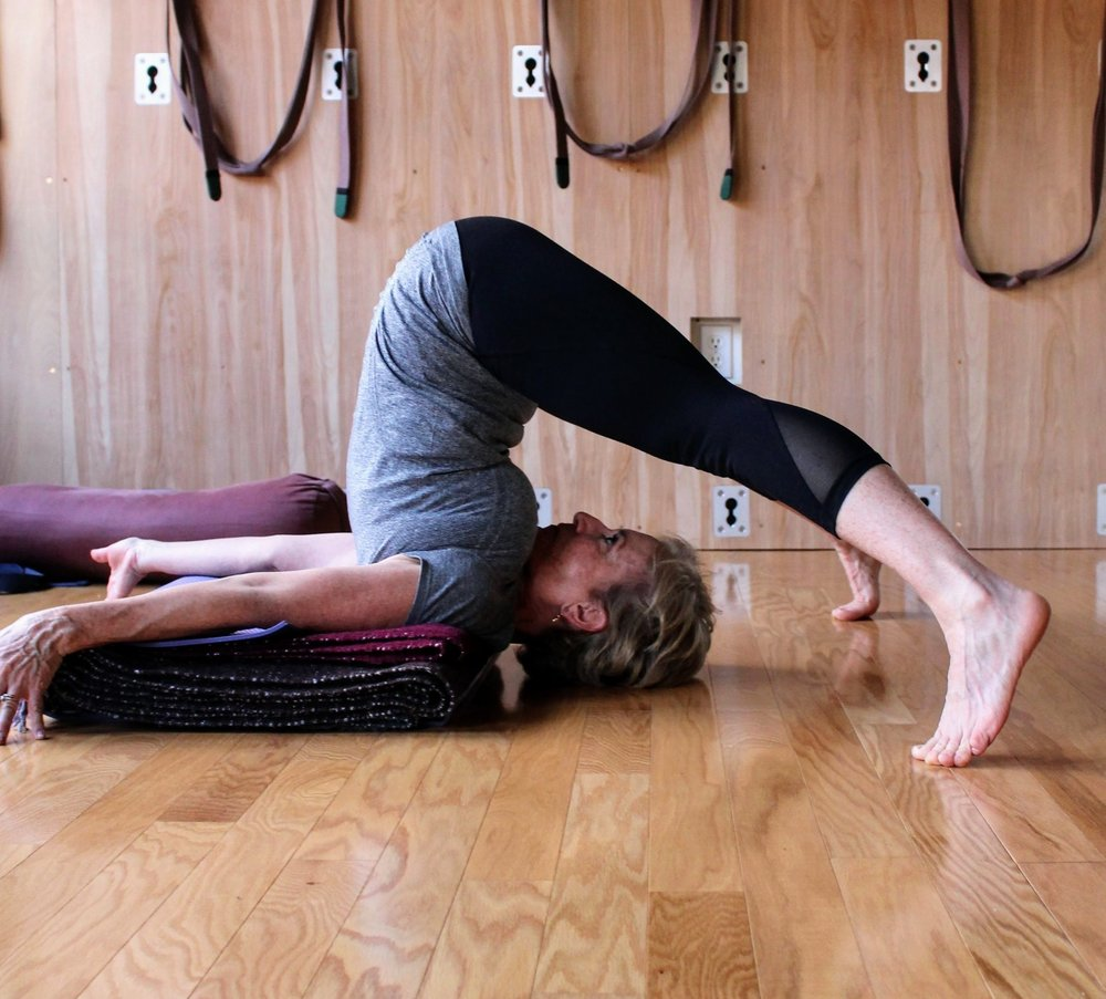 Ready to heal with Iyengar Yoga? - Find a class lead by Tom.