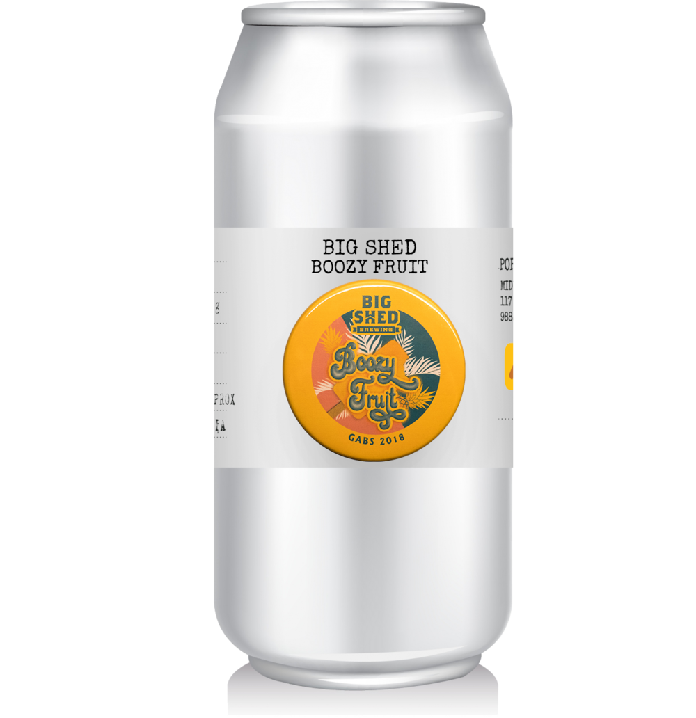 Big Shed - Boozy Fruit   Winner of the Peoples Choice GABS 2018.  This Frosty Fruits inspired beer: a New England IPA brewed with a touch of lactose for added sweetness and a cocktail of fruity hops.  Originally brewed as a once off this is the only place you'll get it until they do another run!
