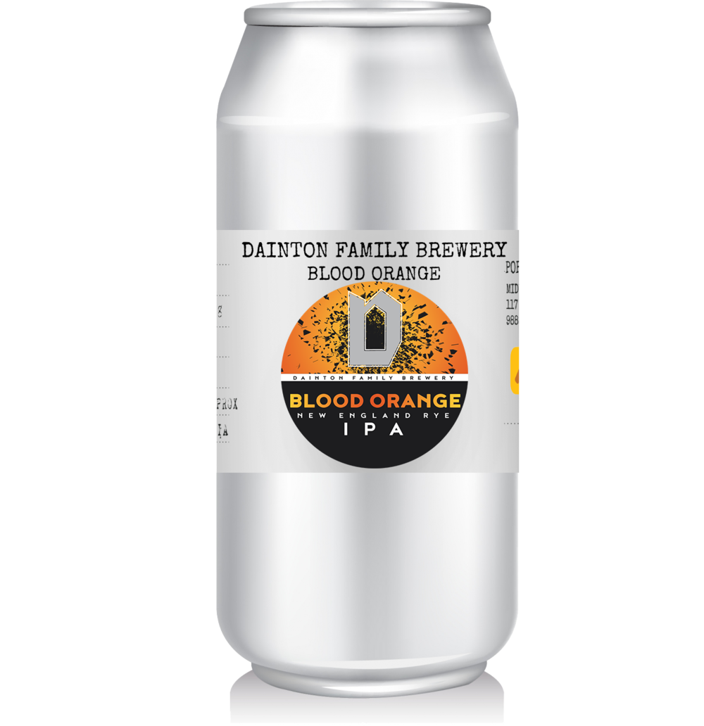 Dainton Family Brewery - Blood Orange New England Rye IPA   Dainton's spring entry into the land of the NEIPA, they added Dan's favourite grain, rye, and loaded the beer up with blood orange too – presumably to make sure it really was juicy.
