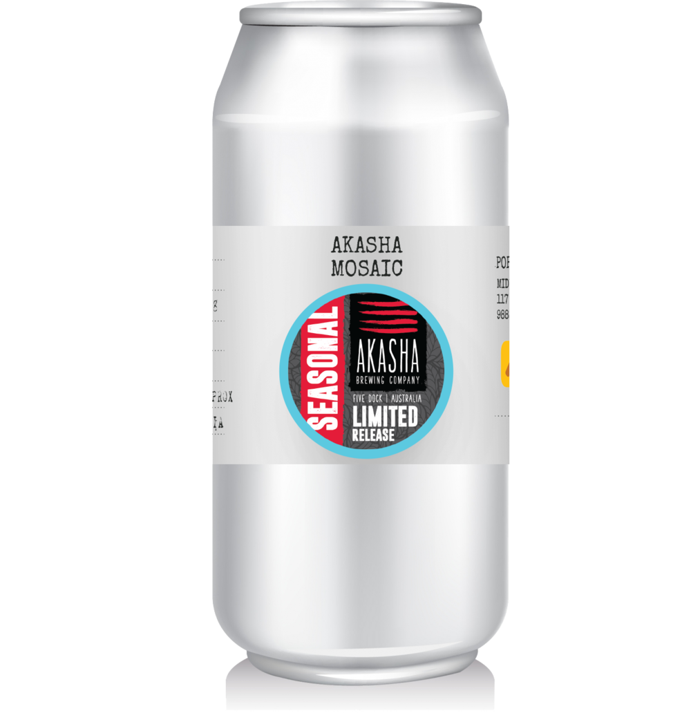 Akasha Brewing - Mosaic   Limited Release single hop IPA from Akasha made with Mosaic hops.
