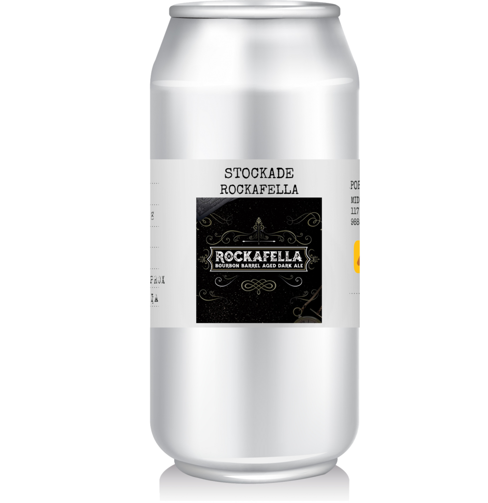 Stockade Brew Co - Rockafella   GABS 2018 brought Stockade to brew this Bourbon Barrel Aged Dark Ale dubbed the ROCKAFELLA.  At 5.5% this one is definitely something you'll want to taste.