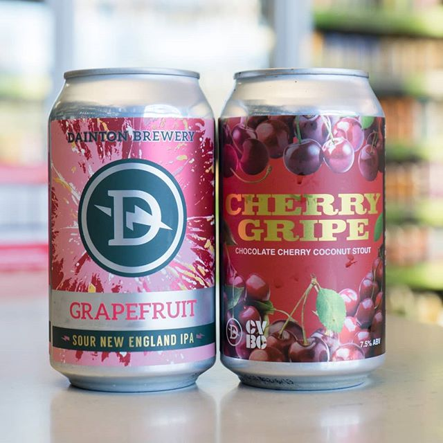 What's in the fridge today?! From @dainton.beer added to the range is their Cherry Gripe Chocolate Cherry Coconut Stout and Grapefruit Sour NEIPA (which we love btw!) 📣 Also to congratulate all those who completed Dry July, we're giving everyone (yes even those who wouldn't even dream of an entire 31 days straight sobriety) a huge 30% all craft beer this Friday 3rd and Saturday 4th August 2018! There's a heap of fresh CANimals too so make sure you swing by! 🍻  #portersliquorryde #midwaycellars #craftbeer #drinkcraft #daintonbrewery #NEIPA #SourNEIPA #CherryGripe #CherryRipe #Stout #untappd #drinkcraft #instabeer #cans #portersliquor #beer