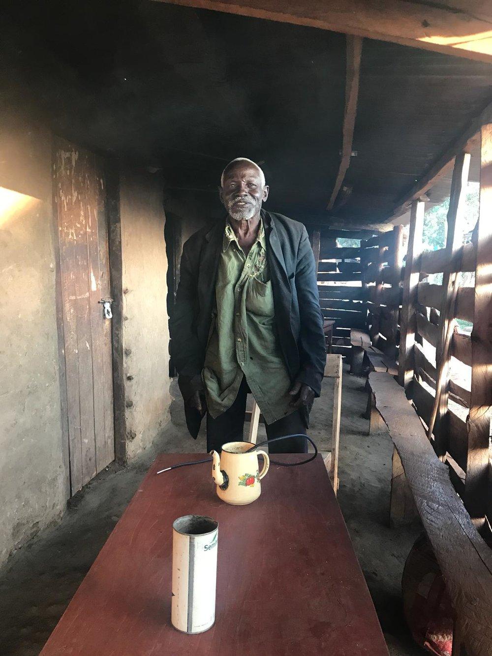 Old man in a bar in Kapchorwa Uganda