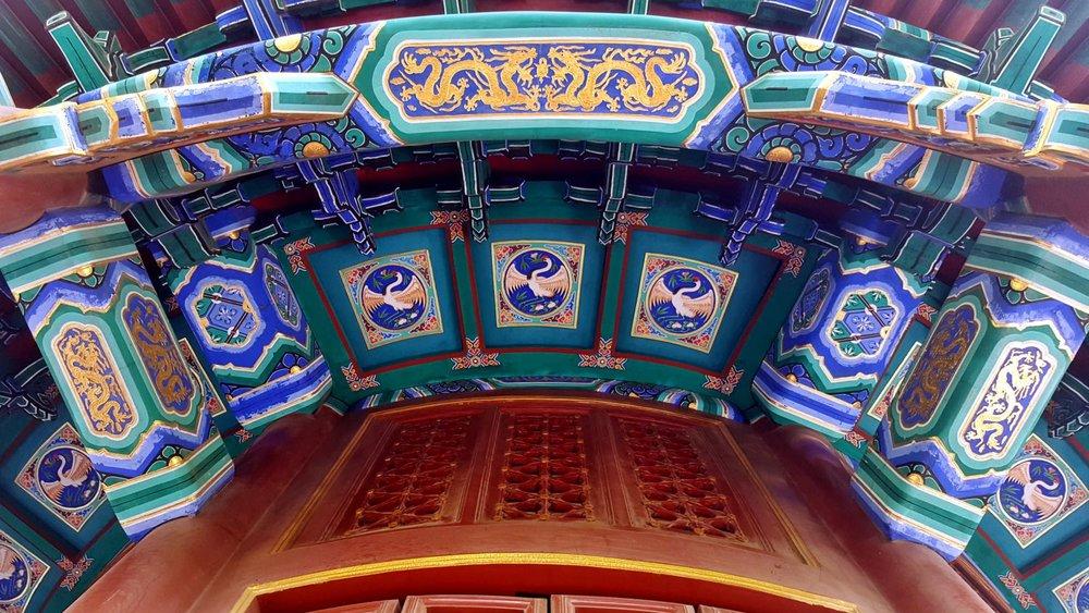 Roof of a Pavilion at Jingshan Park
