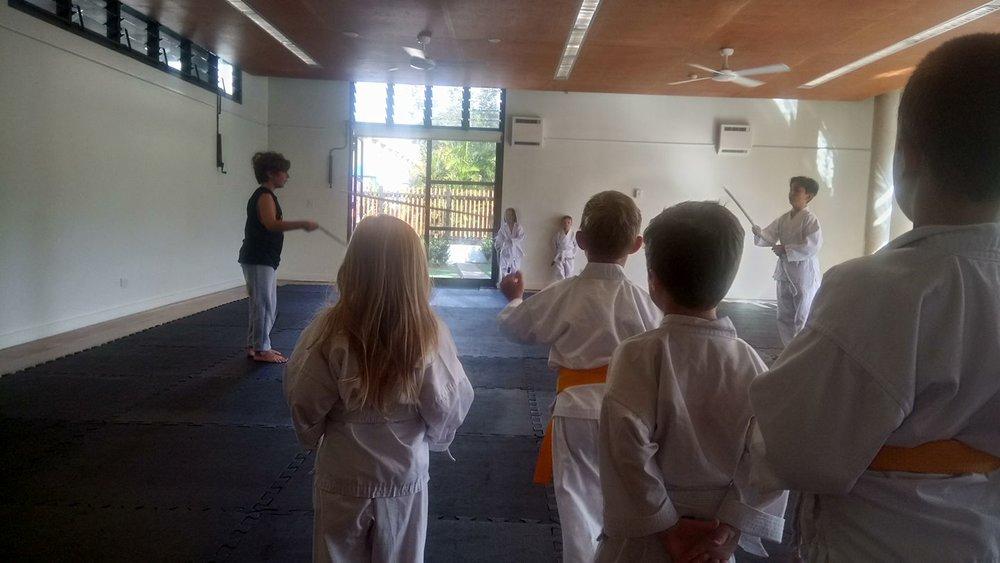 Working on basic skills at Avalon dojo - Martial arts aikido Sydney