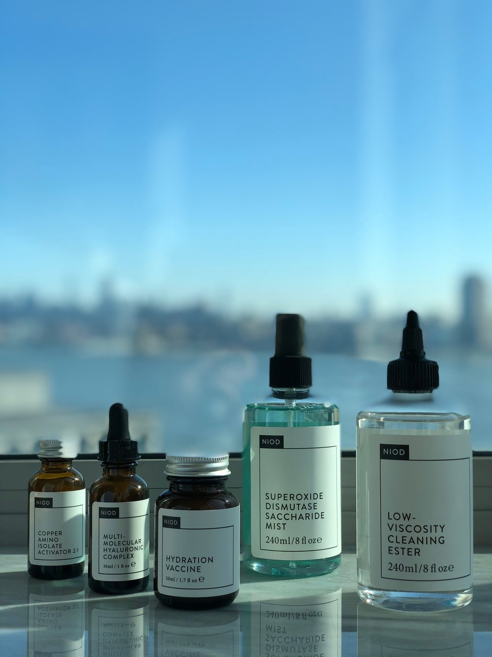 My NIOD loves, including my newest discover Low-Vicosity Cleaning Ester.