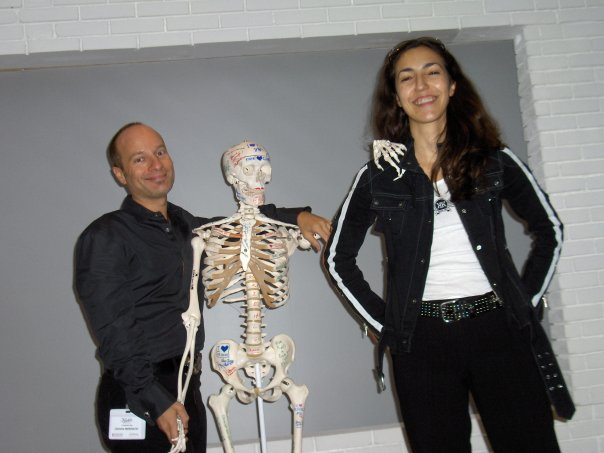 My dear friend,Marie-Pierre, Mr. Bones and me in Paris ca. 2005.Marie-Pierre taught me so much of what I know about skin care and ingredients today. And, well, Mr. Bones taught me you can never be thin enough.