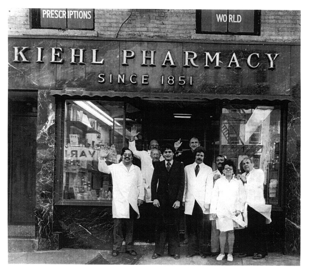 Kiehl's Original Flagship store on Thirteenth and Third in New York's Lower East Side, ca. 1973