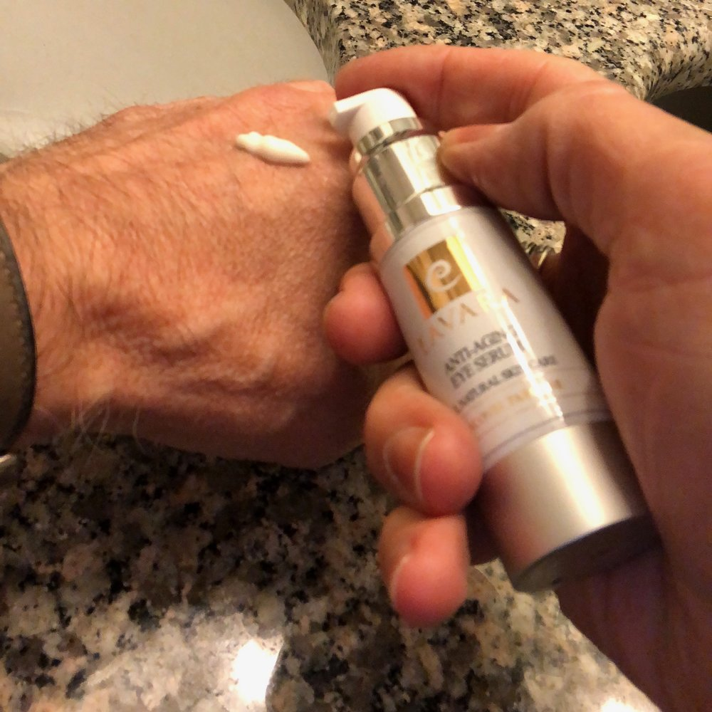 I love the silky texture of Pure Paradise Anti-Aging Eye Serum.