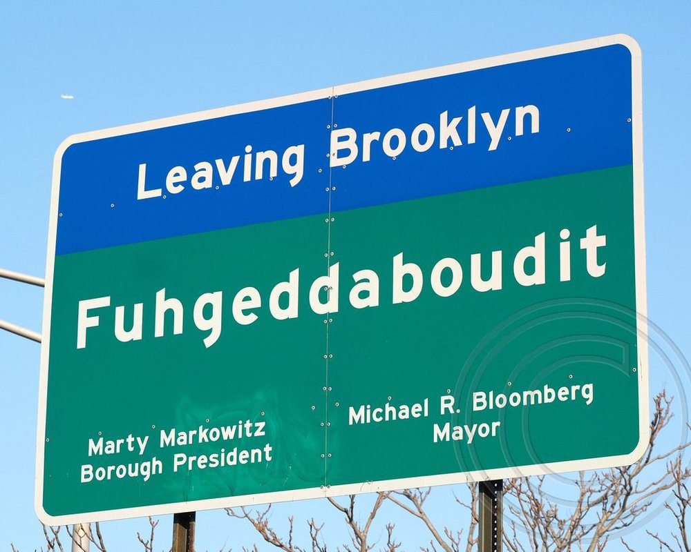 This sign at the Brooklyn border always cracks me up.