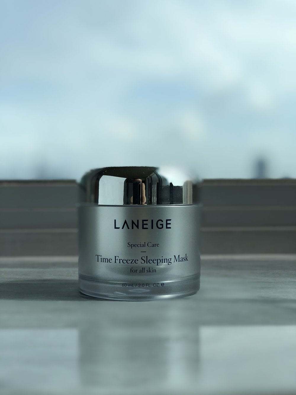 The LANEIGE Time Freeze Sleeping Mask doesn't freeze time, but it plumps rather well.
