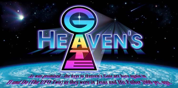 The Heaven's Gate cult's disturbingly ugly logo.