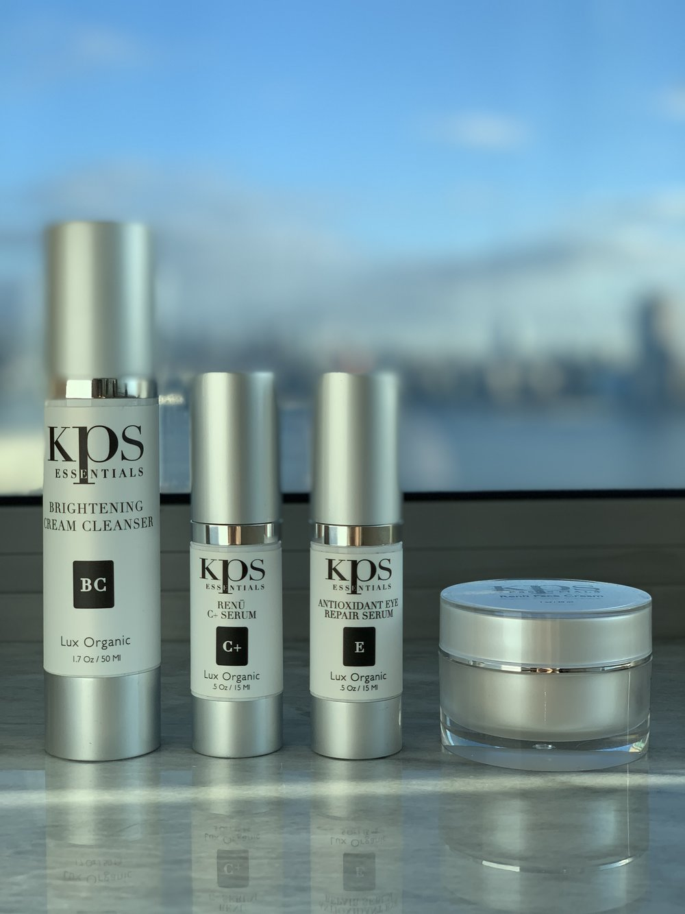 Several of the products in the KPS smart skin care line-up.