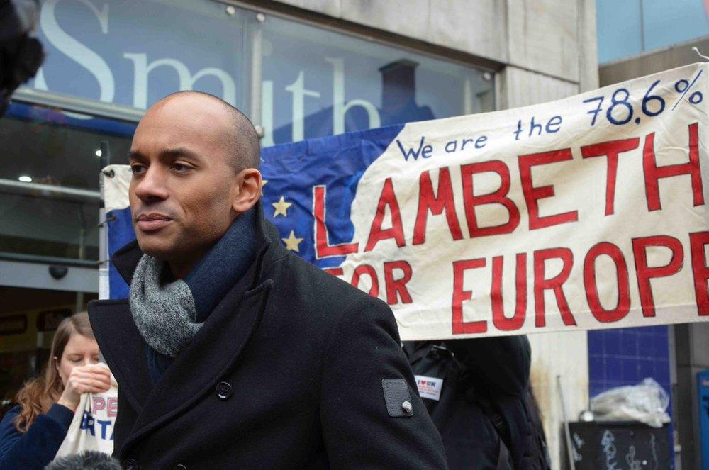 Chuka Umunna MP at 'Lambeth for Europe' rally