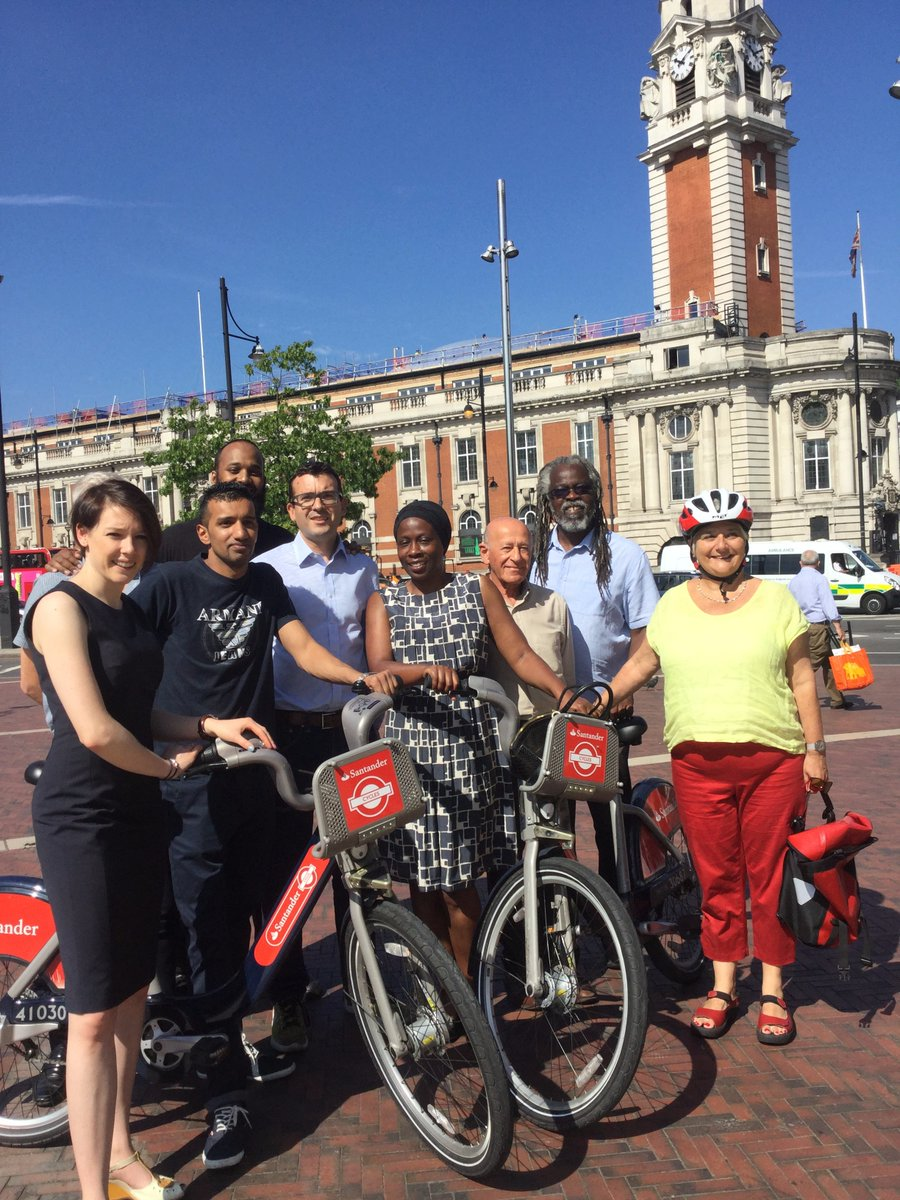 Santander bikes arrive in Brixton after successful lobbying by Lambeth Labour councillors