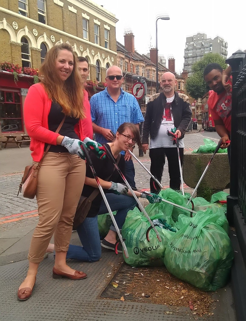 Councillors taking part in community litter-picking