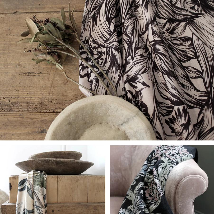 Cool Linens, Luxurious Chenille and Velvet...