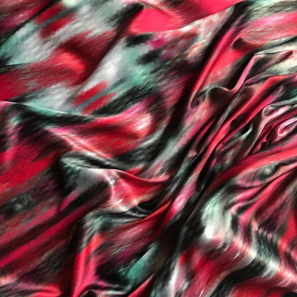 Sofi combines Digital Prints and Woven Techniques throughout her collection