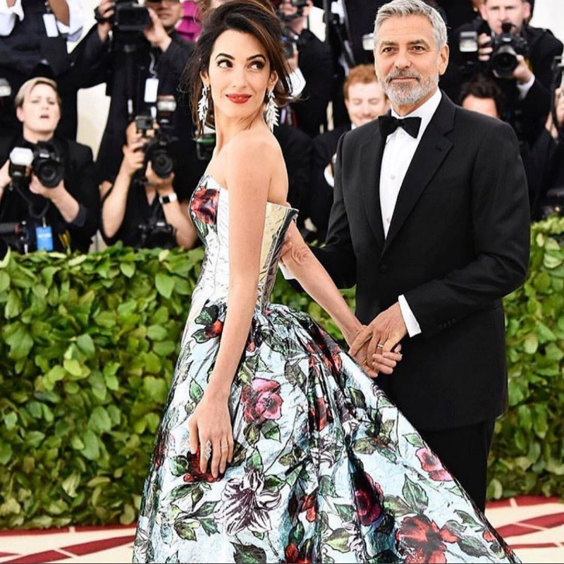 Amal Clooney wearing a Richard Quinn design at The Met Gala, printed on an Epson Sure Colour...
