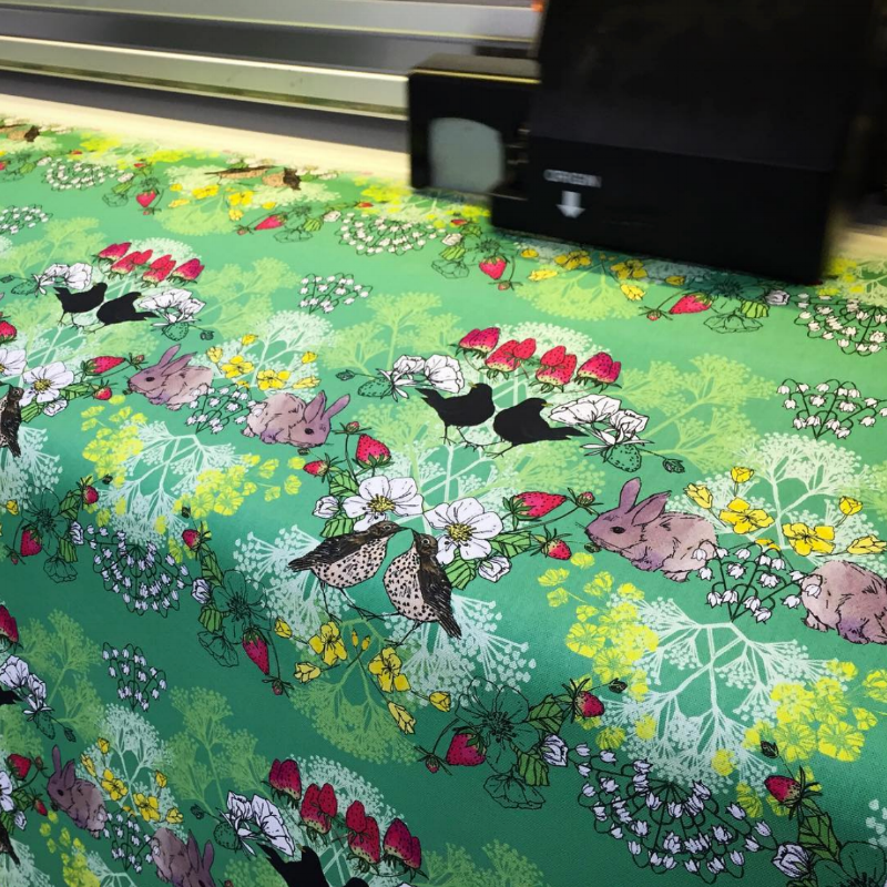 Digital Textile Printing offers Designers a Sustainable product...  Fabrics printed by Prinfab, you can find them in our  Digital Printer Directory .  Image Credit: PrinFab