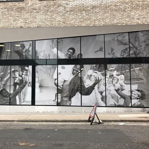 Southwark Town Hall Outdoor Window Mural