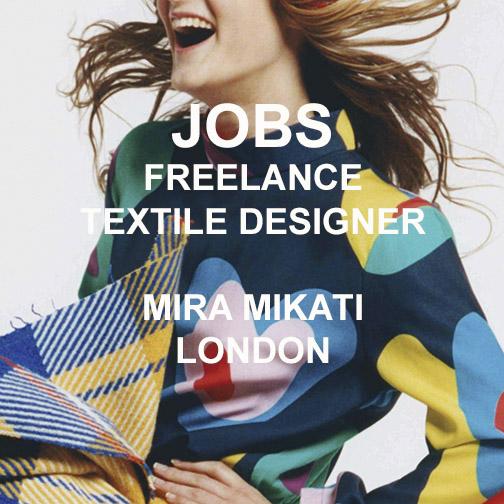 JOBS] FREELANCE PRINT DESIGNER – MIRA MIKATI LONDON — TEXINTEL