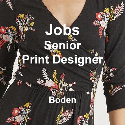 Jobs Senior Print Designer Boden Texintel