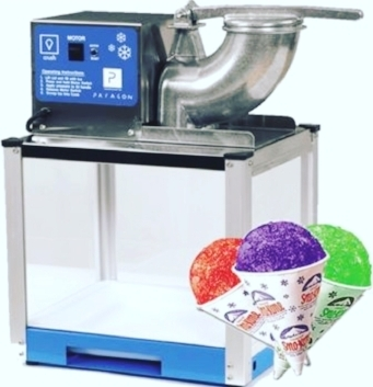 Snow Cone Maker  - $60 + tax  Includes one flavoring of your choosing grape or cherry. Cups, spoons, straws, and ice available for an additional fee.