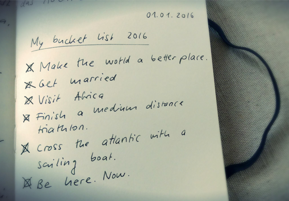 On 1.1.2016 - On January the first 2016, I wrote this bucket list what I wanted to do before I die.
