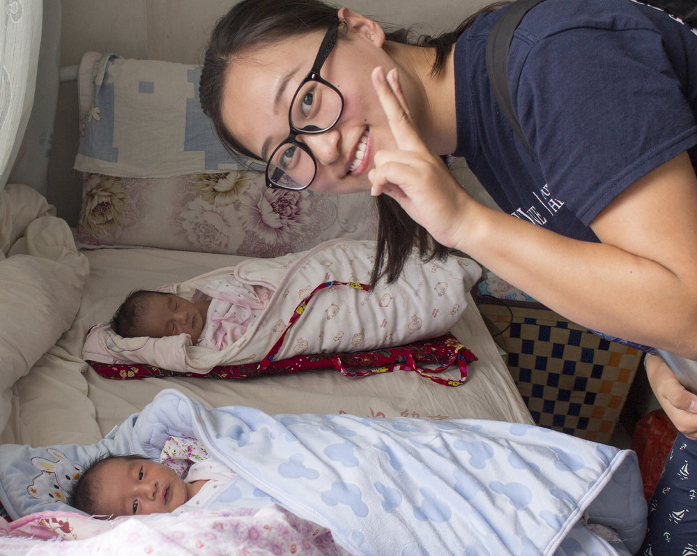 Fangqi Guo: Project Lead with two newborns in Nan Jian County